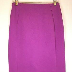 ANN TAYLOR Bi-Stretch Pencil Skirt Fuchsia Pink